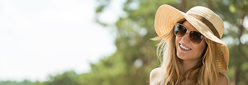 Girl in summer hat